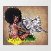 African Princess Canvas Print