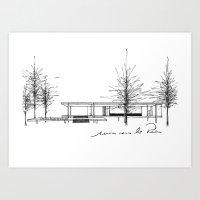The Barcelona Pavilion -  Ludwig Mies van der Rohe Art Print