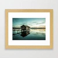 The house at the lake Framed Art Print