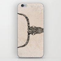Longhorn Skull iPhone & iPod Skin