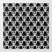Skulls & Cats Canvas Print