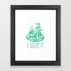I Ship It - Watercolour Framed Art Print