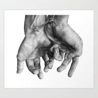 Locked Hands Art Print