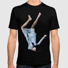Almost Blue Black SMALL Mens Fitted Tee
