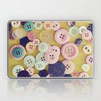 Vintage Buttons  Laptop & iPad Skin