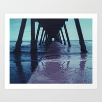 Glenelg Pier, Polaroid Art Print