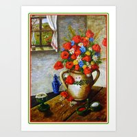 Hungarian Poppies Art Print