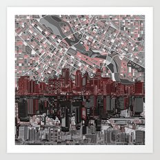 minneapolis city skyline Art Print