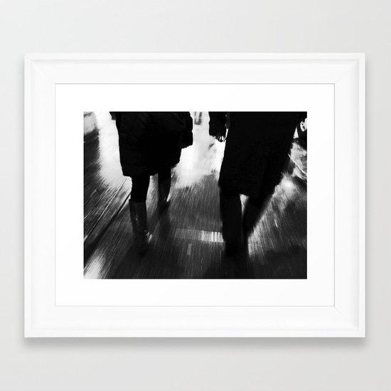 A Walk in the Rain #2 Framed Art Print