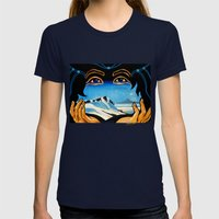 The Gift Giver Womens Fitted Tee Navy SMALL