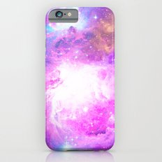 Colorful Pastel Pink Nebula Purple Galaxy Stars iPhone 6s Slim Case
