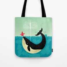 The Bird And The Whale Tote Bag