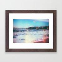 California Sunshine Waves Framed Art Print