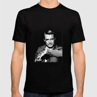 Cary Grant Blue Mens Fitted Tee Black SMALL