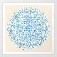 Pale Blue Pencil Pattern… Art Print