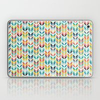llama leaf arrow chevron white Laptop & iPad Skin