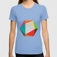 Icosahedron Womens Fitted Tee Tri-Blue SMALL