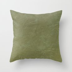 Tuscan Olive Green Plaster Throw Pillow