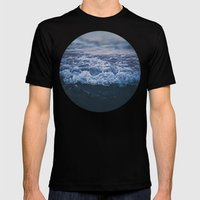 Waves Mens Fitted Tee Black SMALL