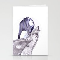 Call Of The Wolves Stationery Cards