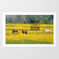 Wander Without Reason Art Print