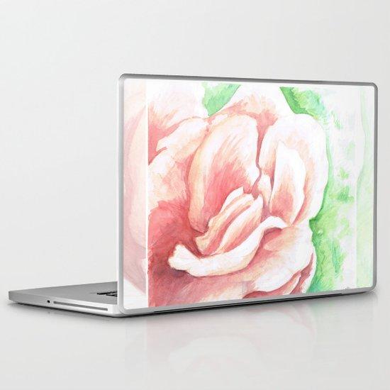 Watercolor Rose Laptop & iPad Skin