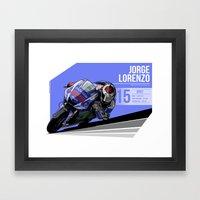 Jorge Lorenzo - 2015 Jer… Framed Art Print