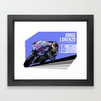 Jorge Lorenzo - 2015 Jerez Framed Art Print
