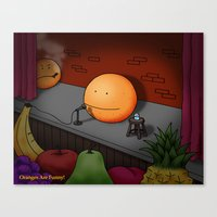Orange Stand-up Comedy C… Canvas Print