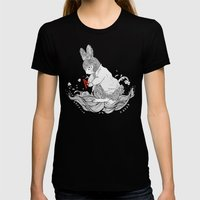 LE CHAPARDEUR Womens Fitted Tee Black SMALL