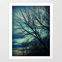 Merrimac Winter Sky Art Print