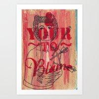 Shot Through The Heart..… Art Print