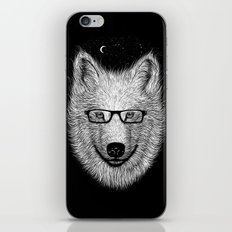 WHITE SPECTACLE iPhone & iPod Skin
