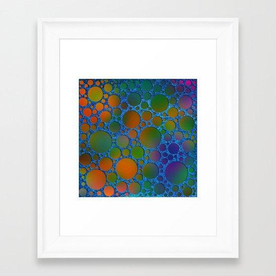 Pattern/Polka dots/6 Framed Art Print