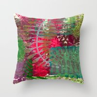 Leaf in pink Throw Pillow