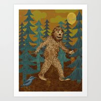 Bigfoot birthday card Art Print