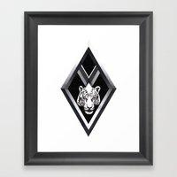 Diamante Framed Art Print