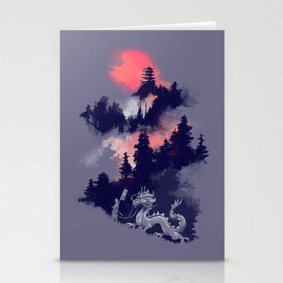 Samurai's life Stationery Card