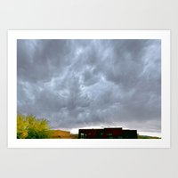 Heaven Reaching Home Art Print