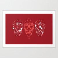 Shoes Make A Skull Art Print