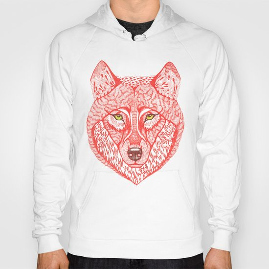 Red wolf Hoody