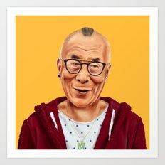 Hipstory -  Dalai Lama Art Print