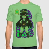 Lili The Cyclops Mens Fitted Tee Grass SMALL