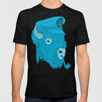 Buffalo Captain Mens Fitted Tee Tri-Black SMALL