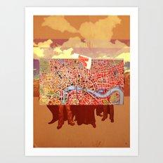 Paris People Art Print
