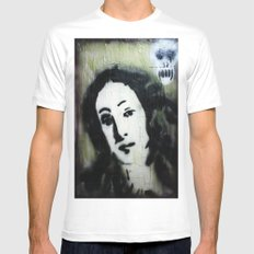 WE ARE MORE BEAUTIFUL THAN VENUS BECAUSE WE ARE DOOMED White Mens Fitted Tee SMALL