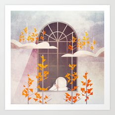 Outside The Window Art Print