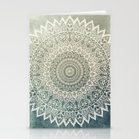 AUTUMN LEAVES MANDALA Stationery Cards