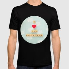 I Heart The Universe Black Mens Fitted Tee SMALL