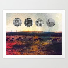 cows and balconies  Art Print